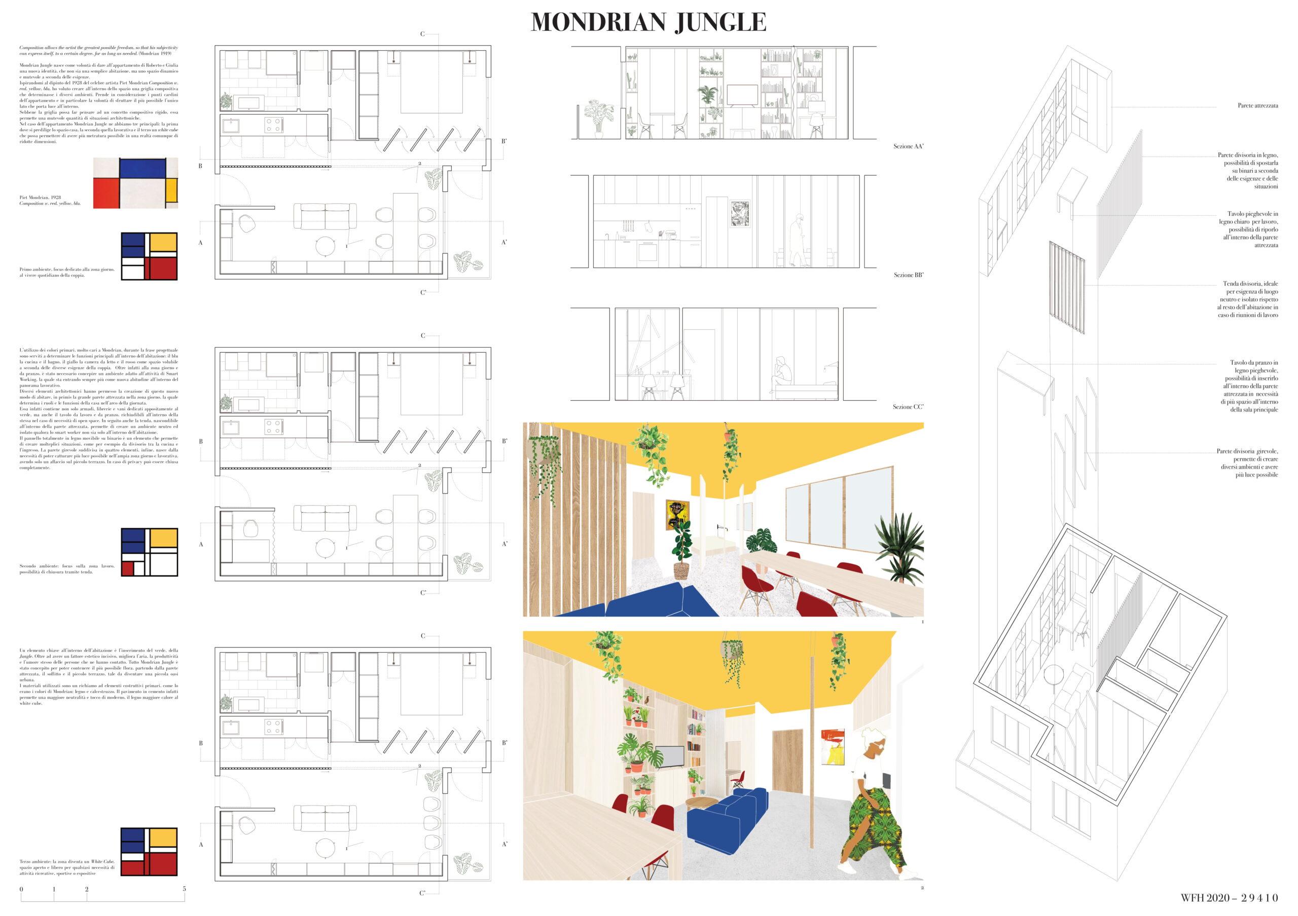 Mondrian Jungle Board