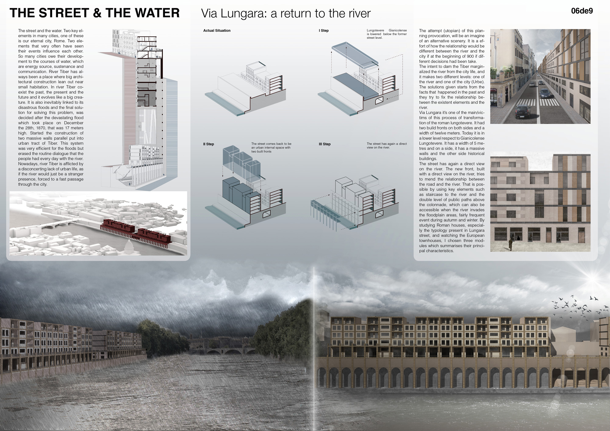 THE STREET AND THE WATER. Via Lungara: a return to the river Board