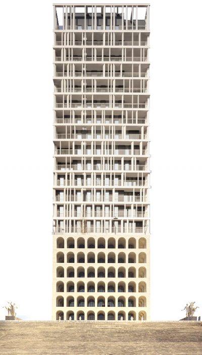 Reference:  Colosseo Quadrato by G. Guerrini, E. Lapadula e M. Romano + Cascina Merlata Social Housing by b22