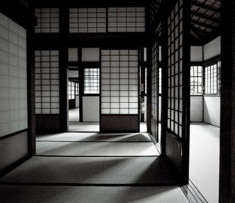 Japanese interior with shoji