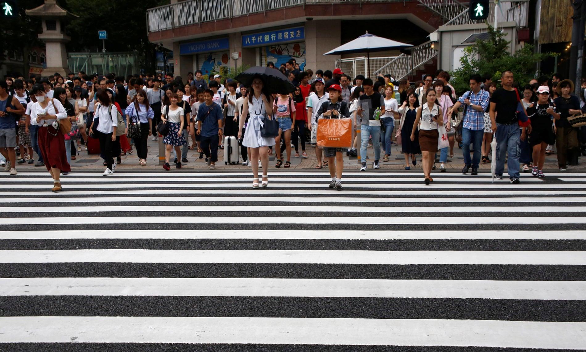 crosswalk in Tokio